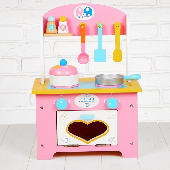 Игровой набор 'Кухня с сердечком', деревянная посуда в наборе - фото 2