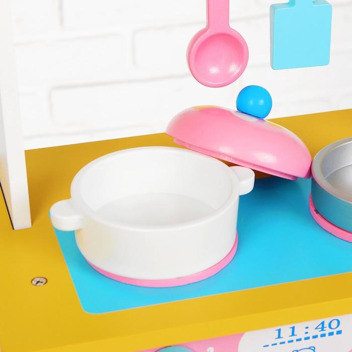 Игровой набор 'Кухня с сердечком', деревянная посуда в наборе - фото 5