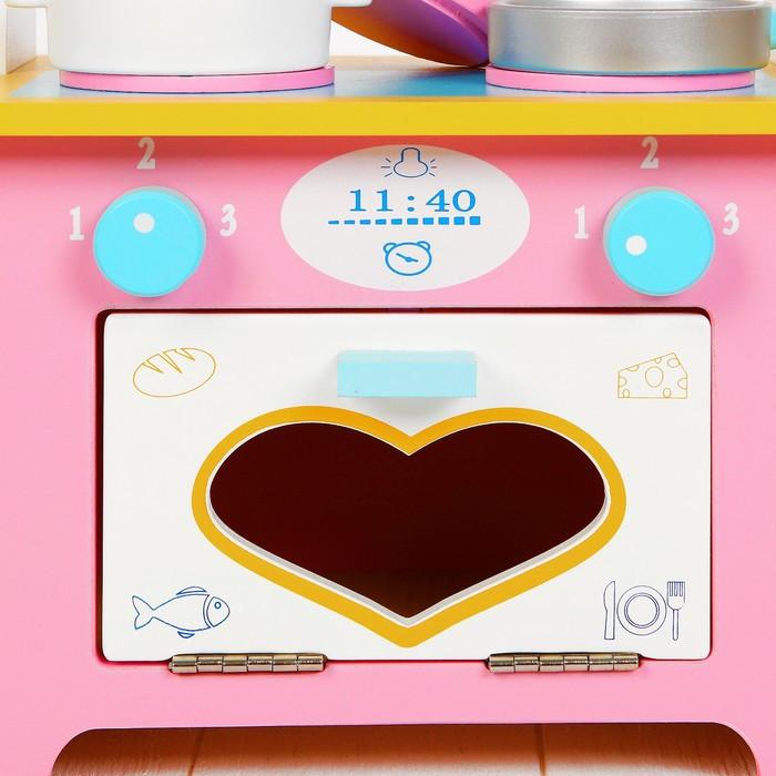 Игровой набор 'Кухня с сердечком', деревянная посуда в наборе - фото 6