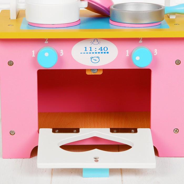 Игровой набор 'Кухня с сердечком', деревянная посуда в наборе - фото 7