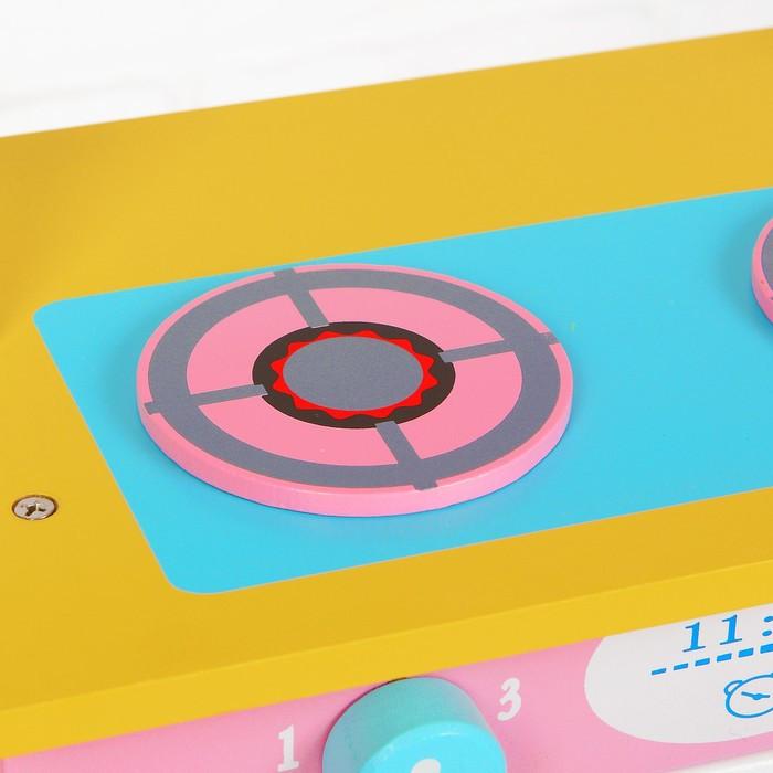 Игровой набор 'Кухня с сердечком', деревянная посуда в наборе - фото 8