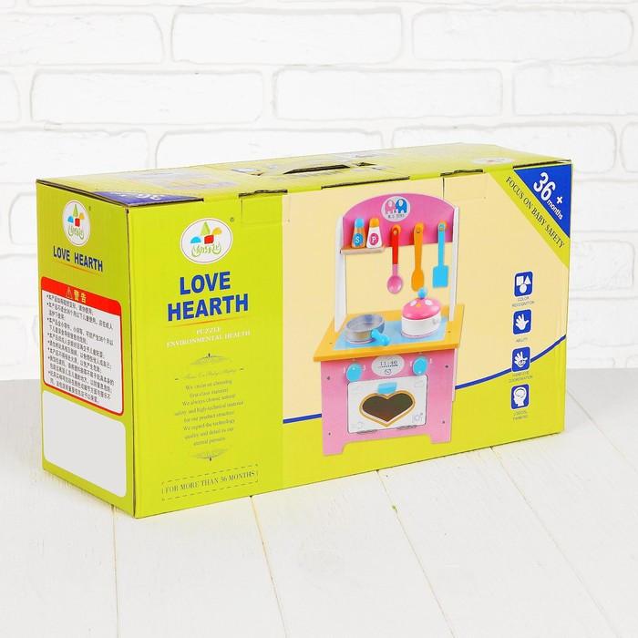 Игровой набор 'Кухня с сердечком', деревянная посуда в наборе - фото 9