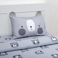 Постельное белье 'Этель' 1,5 сп Gray bear 143х215 см, 150х214 см, 50х70 см -1 шт