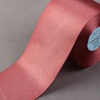 Лента атласная, 75 мм x 33 ± 2 м, цвет грязно-розовый 147