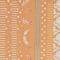 Набор крафтовой бумаги для скрапбукинга с фольгированием 'Вдохновляй', 30,5 х 30,5 см, 10 листов