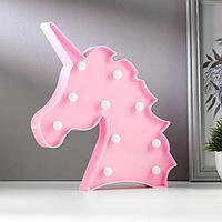 Светильник настольный 'Единорог' LED 10Вт 2хАА розовый