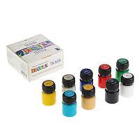 Краска по ткани, набор 9 цветов х 20 мл, Decola (акриловая на водной основе)