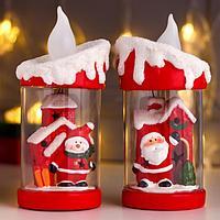 Сувенир керамика свет 'Дед Мороз/Снеговик в свече' МИКС 19,5х10х9,5 см