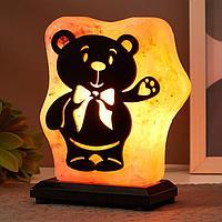 Соляной светильник с диммером 'Большой с узором Мишка' Е14 15Вт 2-3 кг гимал. соль 15х8х18 см 52170