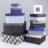 Набор подарочных коробок 10 в 1 'Универсальный', 10.2 x 10.2 x 628.2 x 28.2 x 15 см