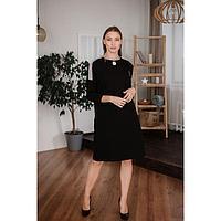 Платье женское, цвет черный, размер 58
