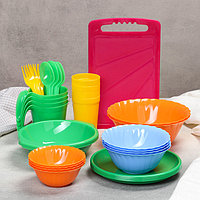 Набор посуды на 4 персоны 'Весёлая компания', 36 предметов