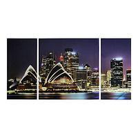 Картина модульная на стекле 'Сидней' 2-25*50см, 1-50*50см 100*50см
