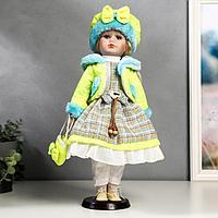 Кукла коллекционная 'Цветана в нежно-зелёном' 40 см