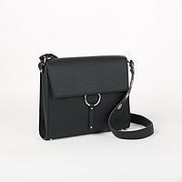 Сумка-мессенджер, отдел на клапане, наружный карман, цвет чёрный