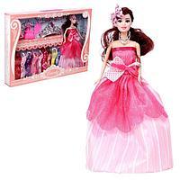 Кукла-модель 'Елена' с набором платьев, обувью и аксессуарами, МИКС