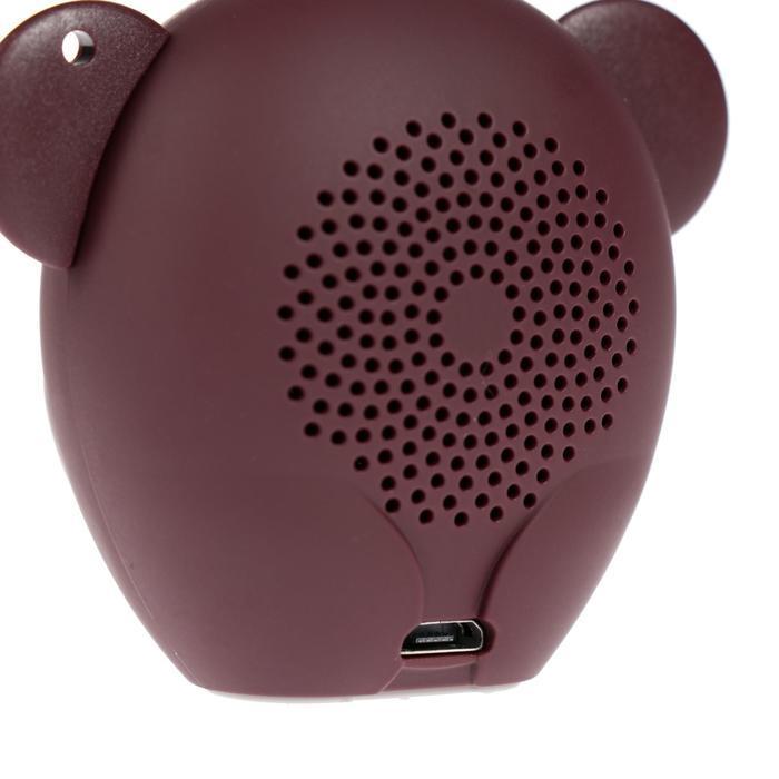 Портативная колонка Hiper ZOO Music Monkey, BT, 3 Вт, Micro-USB, 400 мАч, коричневая - фото 5