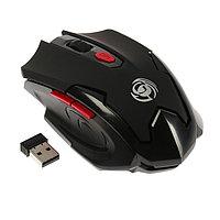 Мышь Dialog MRGK-10U Gan-Kata, игровая, беспроводная, 1600 dpi, 1xAA, USB, чёрная