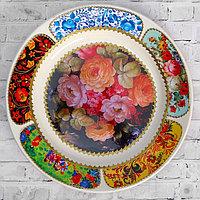 Тарелка декоративная 'Жостово. Пышные цветы', настенная, d20 см, ручная работа