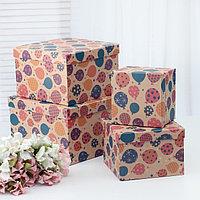Набор коробок 4 в 1 'Праздничные шары', 28 х 28 х 18 - 16 х 16 х 12 см