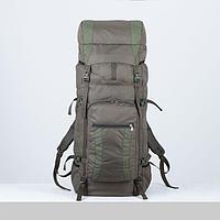 Рюкзак туристический, 120 л, отдел на шнурке, наружный карман, 2 боковые сетки, цвет оливковый