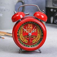Часы-будильник 'С 23 февраля', диам. 8,7 см
