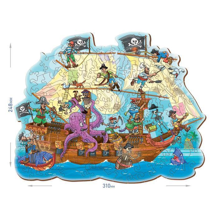 Фигурный деревянный пазл 'FUN ART collection' Пиратский корабль - фото 2