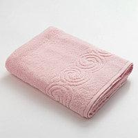 Полотенце махровое Love Life Border 70*130 светло-розовый, 100 хлопок, 360 г/м2
