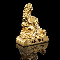 Сувенир знак зодиака 'Водолей', 5x2x5 см, с кристаллами Сваровски