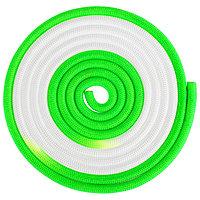 Скакалка гимнастическая утяжелённая двухцветная, 3 м, 160 г, цвет белый/салатовый