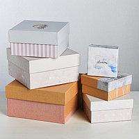 Набор подарочных коробок 6 в 1 'Нежный тренд', 8 x 8 x 4.518 x 18 x 9.5 см