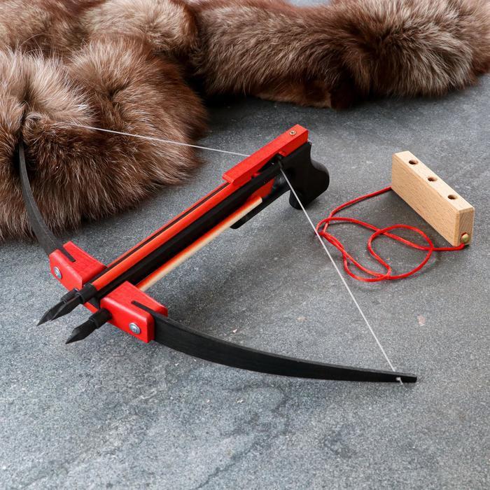 Сувенирное деревянное оружие 'Пистолет-Арбалет', 50х30 см, массив бука - фото 1