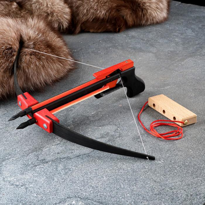 Сувенирное деревянное оружие 'Пистолет-Арбалет', 50х30 см, массив бука - фото 2