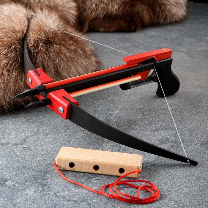 Сувенирное деревянное оружие 'Пистолет-Арбалет', 50х30 см, массив бука - фото 3