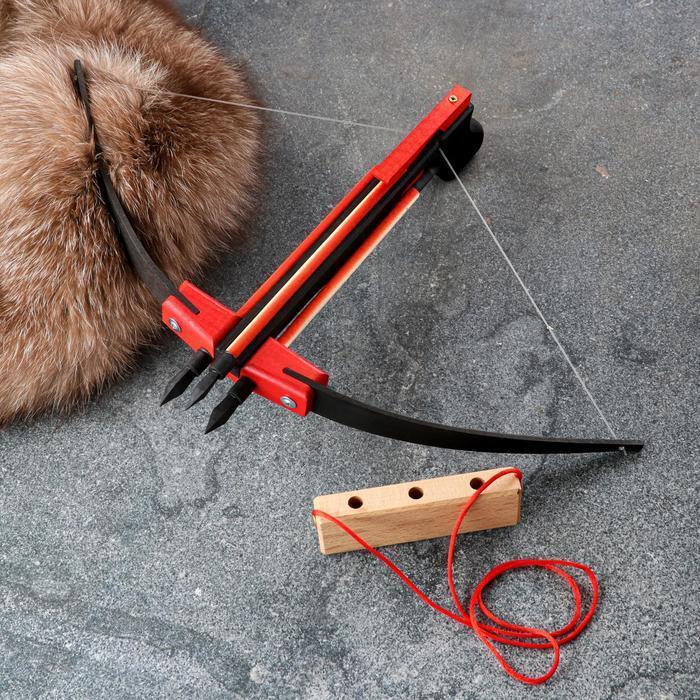 Сувенирное деревянное оружие 'Пистолет-Арбалет', 50х30 см, массив бука - фото 4