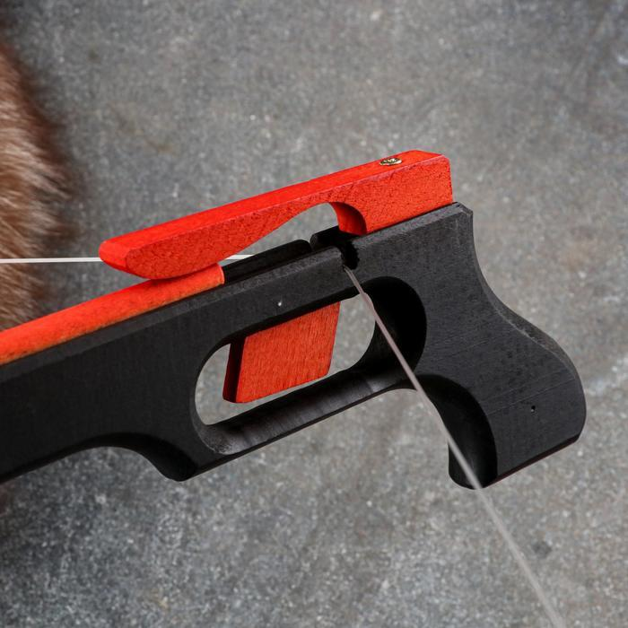 Сувенирное деревянное оружие 'Пистолет-Арбалет', 50х30 см, массив бука - фото 6