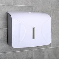 Диспенсер для бумажных полотенец в листах, 21,5x9x26,5 см, пластик, цвет белый