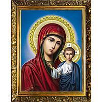 Алмазная мозаика 'Казанская икона Божьей Матери' 30x40 см, 33 цвета