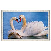 Картина 'Лебеди' 67х107 см рамка МИКС