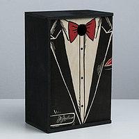 Ящик подарочный деревянный 'Поздравляю', 20 x 30 x 12 см