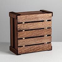 Коробка деревянная подарочная 'Послание', 20 x 20 x 10 см