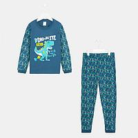 Пижама для мальчика, цвет синий, рост 104-110 см