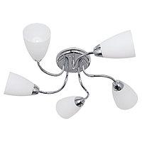 Люстра 'Агалия' 5 ламп E14 60 Вт хром 56х56х16 см.