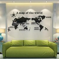 Декор настенный 'Карта мира', 54 х 120 см