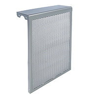 Экран на чугунный радиатор 'Лидер', 390х610х150 мм, 4 секции, металлический, цвет металлик