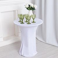 Чехол на стол, цв.белый, 60*120 см, 100 эластан
