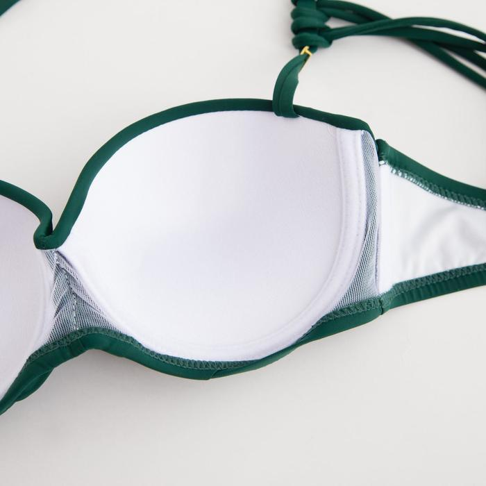 Купальник женский раздельный, цвет зелёный, р-р 42 (36) - фото 4
