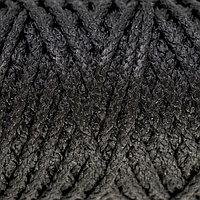Шнур для вязания 'Классик' без сердечника 100 полиэфир ширина 4мм 100м (черный)
