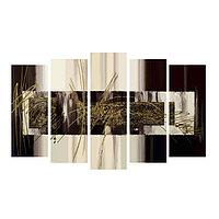 Картина модульная на подрамнике 'Тёмная абстракция' 2-25*63 2-25*71 1-25*80 125*80 см