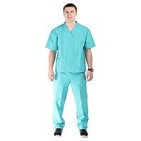 Костюм хирурга, размер 52-54, рост 170-176 см, цвет изумрудный